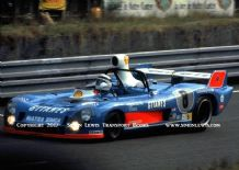 Matra 670B Jaussaud-Wollek-Dolhem . Photo. at speed LeMans 24 hrs 1974
